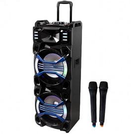 JERRY Enceinte Bluetooth Rechargeable Avec 2 Microphones - Noir