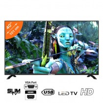 NASCO 40 Pouces - TV LED - HDMI/USB/VGA - Noir - Garantie 12 Mois