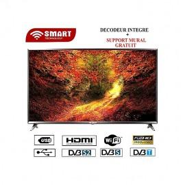 SMART 43 Pouces - Décodeur Intégré - Noir - Garantie 12 Mois