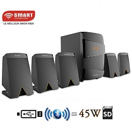 Home Cinéma -STHB-5171M - 5.1 - Bluetooth - 45W - FM/USB/SD/MP3 - Noir