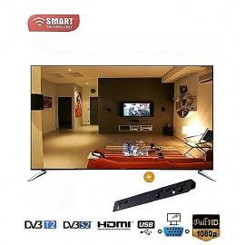 SMART 39 Pouces - Ultra Slim - 3xHDMI/USB/VGA/TNT - Régulateur De Tension - Décodeur Intégré - Noir - Garantie 12 Mois