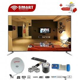 SMART 40 Pouces - Ultra Slim - 3xHDMI/USB/VGA/TNT - Régulateur De Tension - Décodeur Intégré - Noir - Garantie 12 Mois